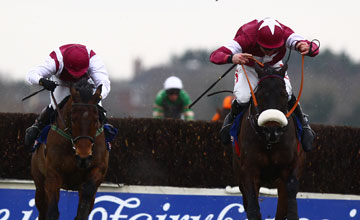 Roi Du Mee (Davy Russell) winning the At The Races Bobbyjo Chase Fairyhouse Photo: Patrick McCann 23.02.2013