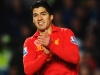 LONDON ENGLAND NOVEMBER 11 Luis Suarez of Liverpool celebrates scoring the equaliser during the Barclays Premier League match between Chelsea and Liverpool at Stamford Bridge on November 11 2012 in London England Photo by Mike HewittGetty Image