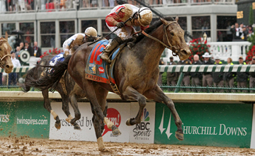 1Orb (Malibu Moon) and jockey Joel Rosario win the Kentucky Derby (Gr I) at Churchill Downs 5/4/13. Trainer: Claude McGaughey III. Owner: Stuart S. Janney & Phipps Stable
