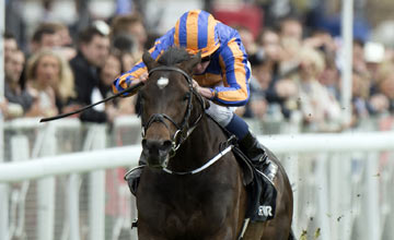 Magician (Ryan Moore) wins the Dee Stakes