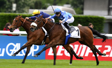 Christophe Lemaire riding Flotilla (R) - Longchamp 12/5/203