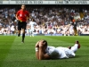 LONDON ENGLAND MAY 19 Gareth Bale of Tottenham reacts to a yellow card from Referee Andre Marriner for diving during the Barclays Premier League match between Tottenham Hotspur and Sunderland at White Hart Lane on May 19 2013 in London England