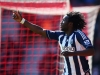 SOUTHAMPTON ENGLAND APRIL 27 Romelu Lukaku of West Bromwich Albion celebrates scoring the second goal for West Bromwich Albion during the Barclays Premier League match between Southampton and West Bromwich Albion at St Mary's Stadium on April 27