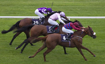 La Collina and Chris Hayes win the Matron Stakes (Group 1) from Lily's Angel and Say Leopardstown Photo: Patrick 07.09.2013