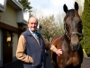 John Dunlop greets his former charge Invincible Spirit see story right
