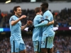 Manchester City celebrate a goal against Crystal Palace