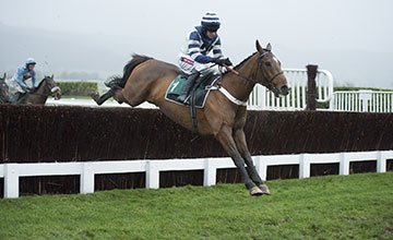 Oscar Whisky (Barry Geraghty) in the Dipper Novices Chase