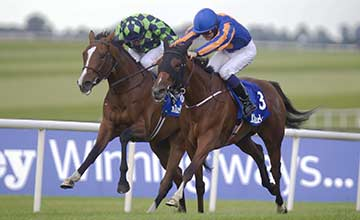 Bracelet (Colm O'Donoghue) wins the Darley Irish Oaks