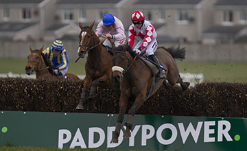 Gallant Oscar and Danny Mullins winning the Woodlands Park 100 Club Leinster National Handicap Chase Naas