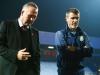 Villa boss Paul Lambert left and his assistant Roy Keane