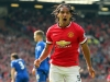 Radamel Falcao celebrates after scoring against Everton