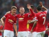 Manchester United finally had something to smile about yesterday