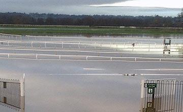 Bangor racecourse flood