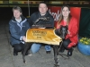 Golden Jacket winner Wiki Waki Woo with trainer Angie Kibble left owner Jonathan Miles and kennelhand Rachel Hill right after her Category One success on Tuesday