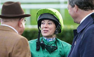 Hayley Turner: has not ruled out riding before August 6
