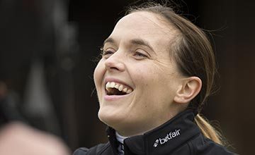 Victoria Pendleton at Lawney Hill's Woodway farm