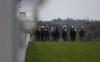 Fellow riders form a guard of honour for Silvestre de Sousa on Qipco British Champions Day at Ascot yesterday