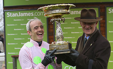 Ruby Walsh and winning trainer Willie Mullins.