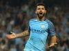 Sergio Aguero will lead the line for Manchester City