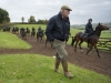 Philip Hobbs on the top of his gallops with first lot at his Sandhill Stables in Somerset