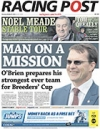 Racing Post front page 27 October 2016