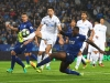 Leicester's Wes Morgan at full stretch during the win over Swansea
