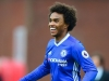 Willian shows his delight at scoring for Chelsea