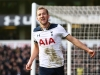 LONDON ENGLAND JANUARY 14 Harry Kane of Tottenham Hotspur celebrates scoring his sides fourth goal during the Premier League match between Tottenham Hotspur and West Bromwich Albion at White Hart Lane on January 14 2017 in London England Photo by