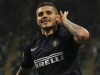 MILAN ITALY APRIL 05 Mauro Emanuel Icardi of FC Internazionale Milano celebrates after scoring his second goal during the Serie A match between FC Internazionale Milano and Bologna FC at San Siro Stadium on April 5 2014 in Milan Italy Photo by M