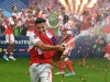 LONDON ENGLAND MAY 27 Alexis Sanchez of Arsenal celebrates victory after the Emirates FA Cup Final between Arsenal and Chelsea at Wembley Stadium on May 27 2017 in London England Photo by Laurence GriffithsGetty Images