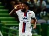 LISBON PORTUGAL JULY 23 Lyon's forward Alexandre Lacazette celebrates scoring Lyon«s goal during the Friendly match between Sporting CP and Lyon at Estadio Jose Alvalade on July 23 2016 in Lisbon Portugal Photo by Carlos RodriguesGet