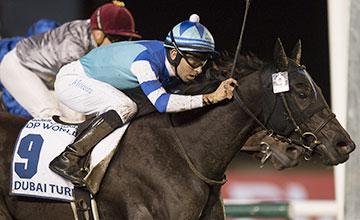 Vivlos (Joao Moreira) wins the Dubai Turf