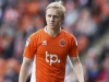 BLACKPOOL ENGLAND MAY 14 Mark Cullen of Blackpool during the Sky Bet League Two match between Blackpool and Luton Town at Bloomfield Road on May 14 2017 in Blackpool England Photo by Mark RobinsonGetty Images