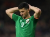 Ireland's Shane Long shows his disappointment