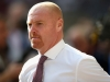 LONDON ENGLAND AUGUST 27 Sean Dyche Manager of Burnley looks on during the Premier League match between Tottenham Hotspur and Burnley at Wembley Stadium on August 27 2017 in London England Photo by Steve BardensGetty Images