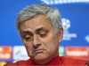 SEVILLE SPAIN FEBRUARY 20 Jose Mourinho of Manchester United attends the press conference prior to their UEFA Champions match against Sevilla FC at Estadio Ramon Sanchez Pizjuan on February 20 2018 in Seville Spain Photo by Aitor AlcaldeGetty I