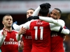 Alexandre Lacazette celebrates with Arsenal teammates