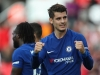 Alvaro Morata of Chelsea celebrates after scoring a goal to make it 04