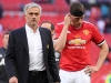 Jose Mourinho and Phil Jones are understandably downbeat after United lost at Wembley