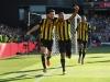 Craig Cathcart celebrates Watford's winner against Tottenham