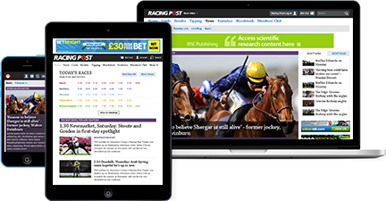 Subscribe to Racing Post Members' club on desktop, mobile or tablet